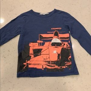 H&M Long sleeve race car 🏎 Tee. Boy 6-8.